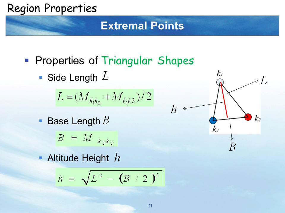Properties of Triangular Shapes
