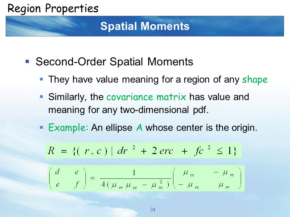 Second-Order Spatial Moments