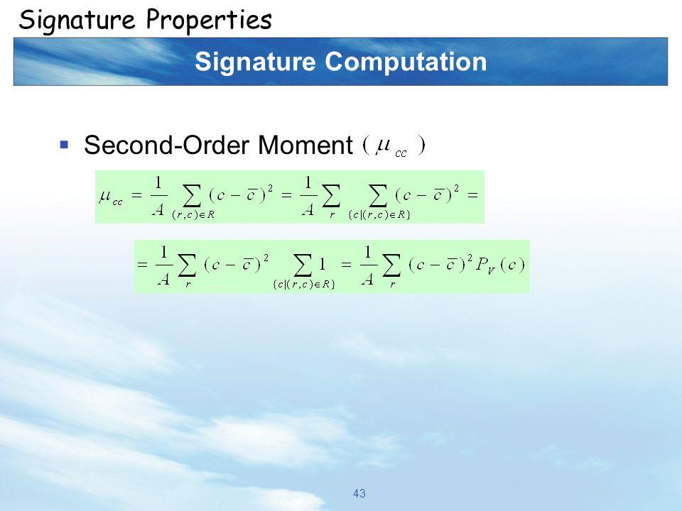 Signature Computation