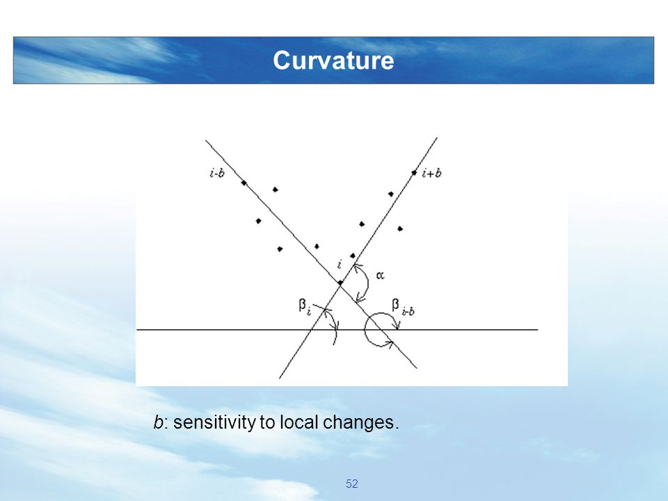 Curvature b: sensitivity to local changes.