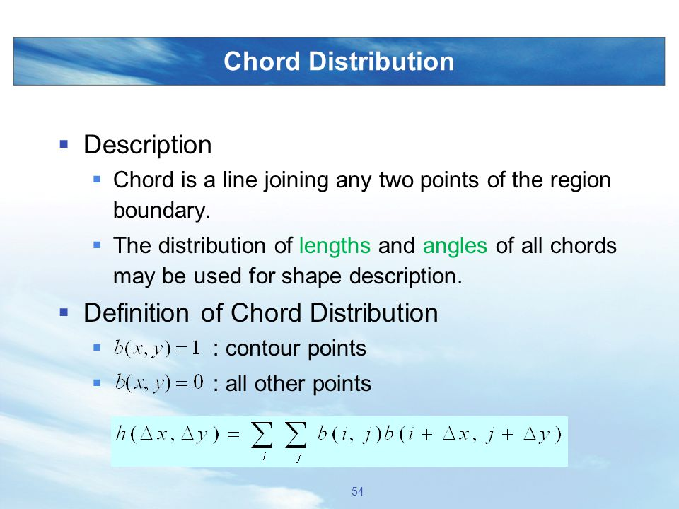 Definition of Chord Distribution