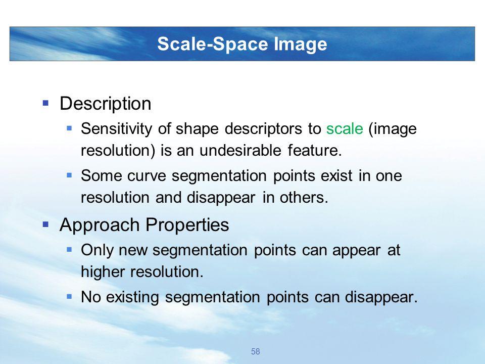 Scale-Space Image Description Approach Properties