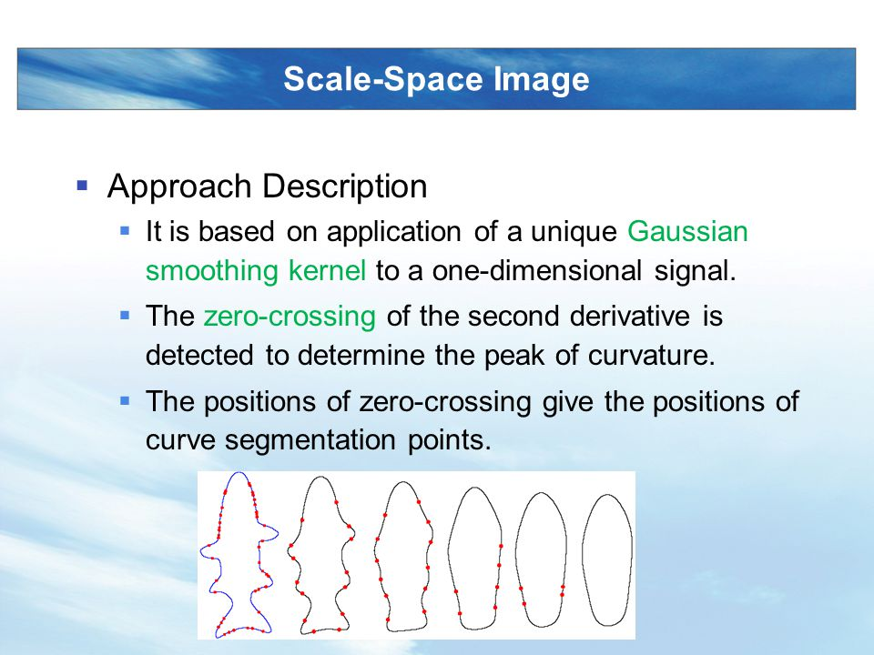 Scale-Space Image Approach Description