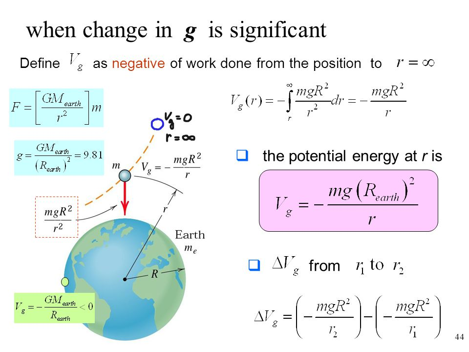 when change in g is significant