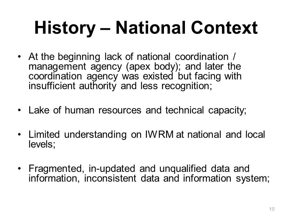 History – National Context