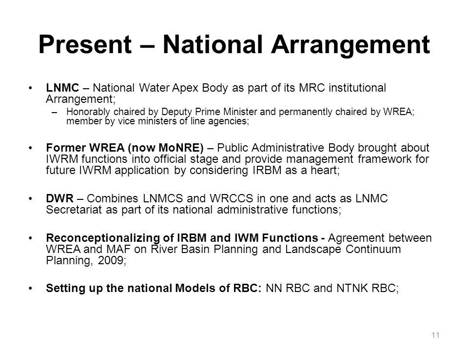 Present – National Arrangement