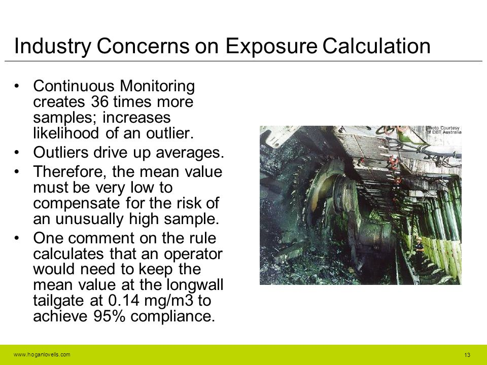Industry Concerns on Exposure Calculation