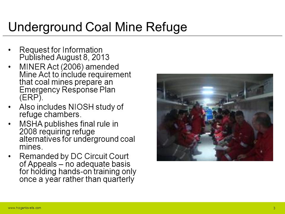 Underground Coal Mine Refuge