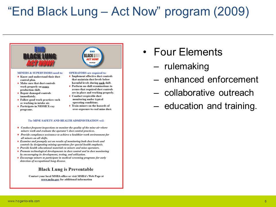 End Black Lung – Act Now program (2009)