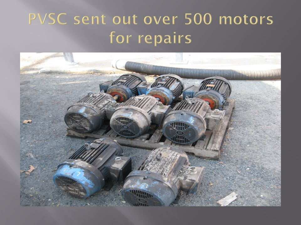 PVSC sent out over 500 motors for repairs