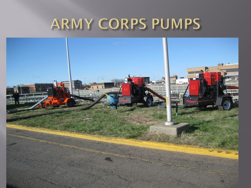 ARMY CORPS PUMPS
