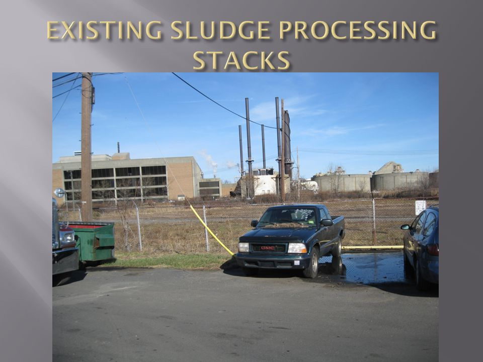 EXISTING SLUDGE PROCESSING STACKS