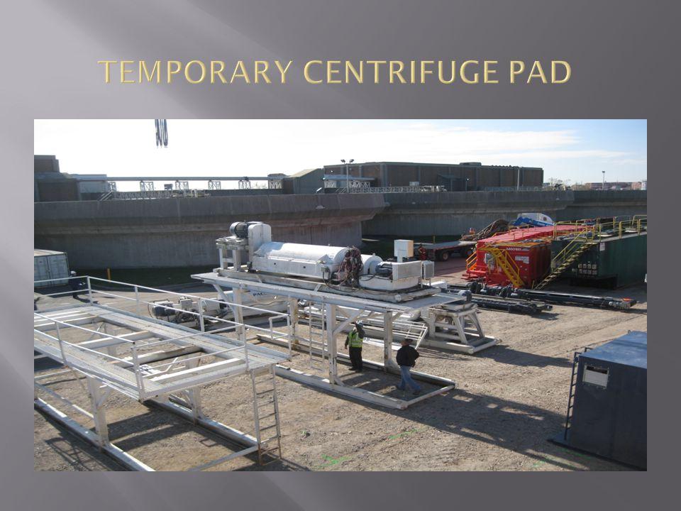 TEMPORARY CENTRIFUGE PAD