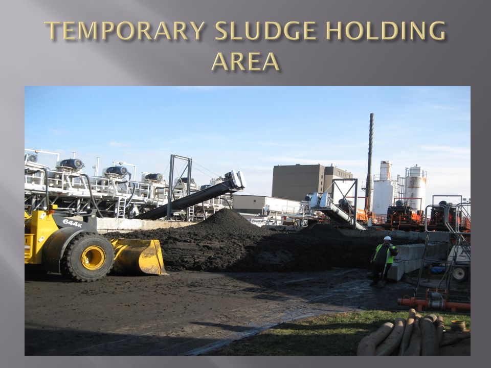 TEMPORARY SLUDGE HOLDING AREA