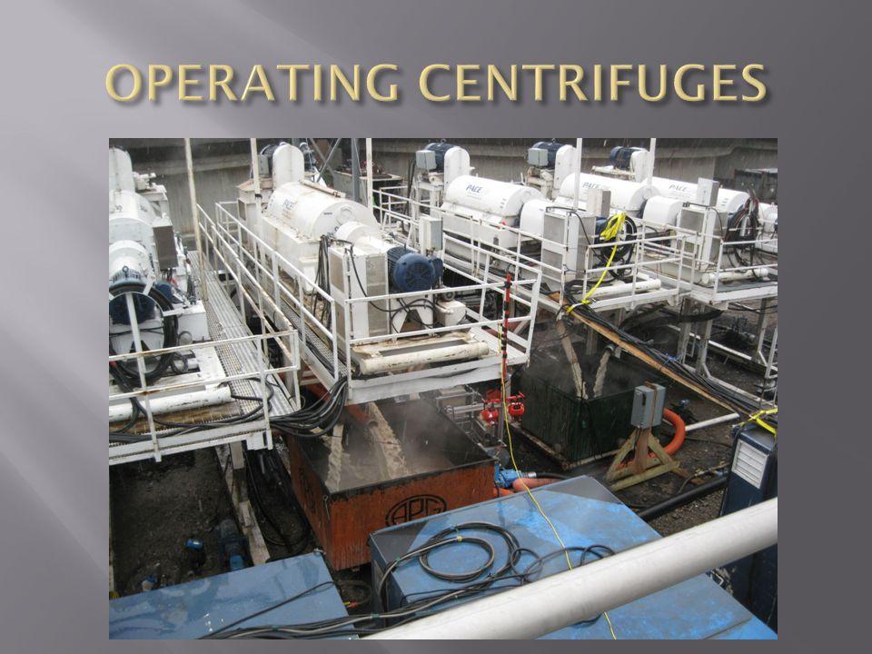 OPERATING CENTRIFUGES