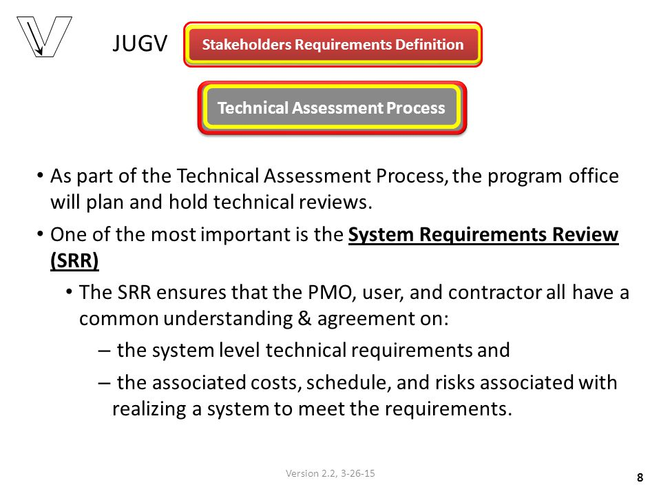Stakeholders Requirements Definition Technical Assessment Process