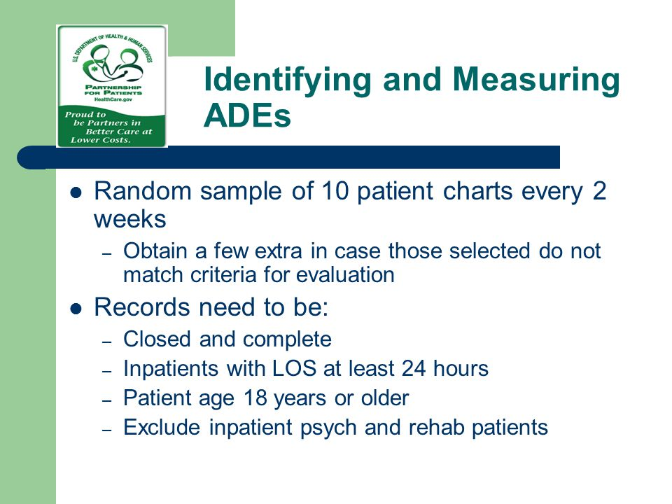 Identifying and Measuring ADEs
