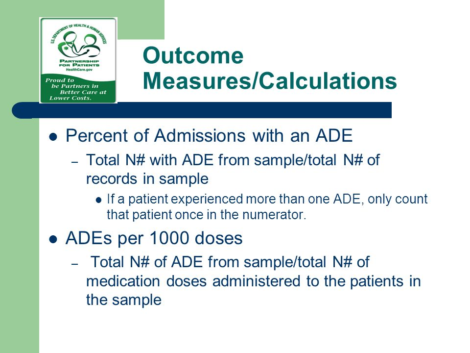 Outcome Measures/Calculations