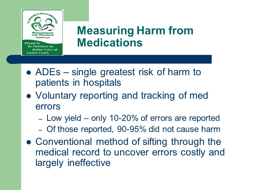 Measuring Harm from Medications