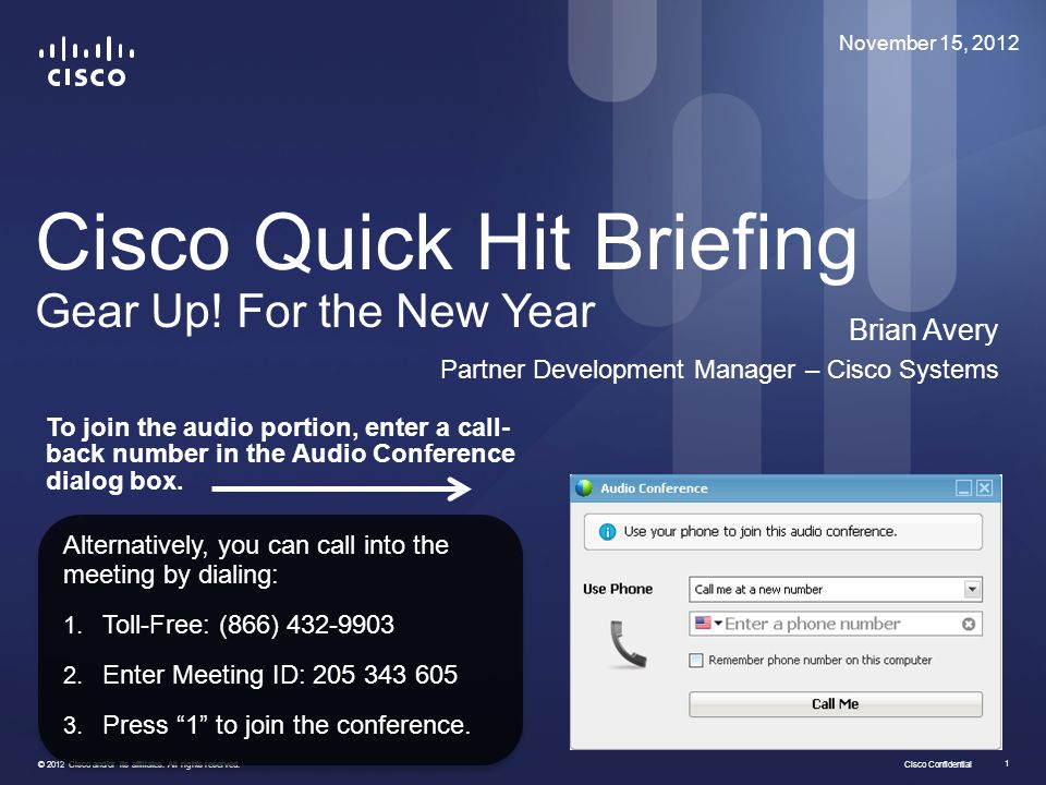 Cisco Quick Hit Briefing Gear Up! For the New Year