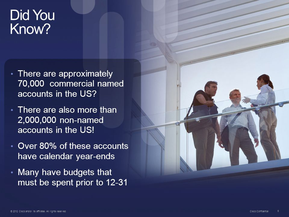 Did You Know There are approximately 70,000 commercial named accounts in the US