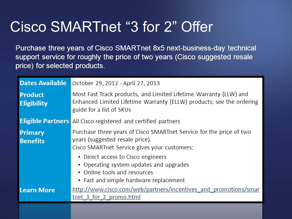 Cisco SMARTnet 3 for 2 Offer