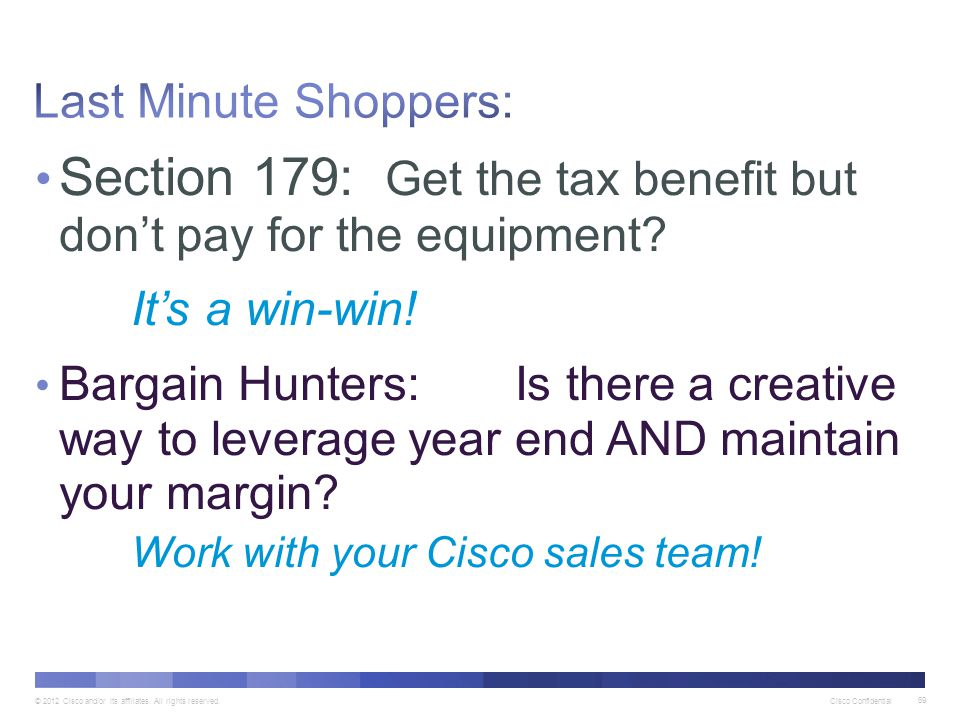 Section 179: Get the tax benefit but don't pay for the equipment
