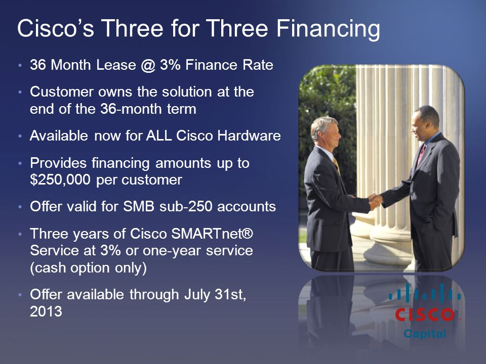Cisco's Three for Three Financing