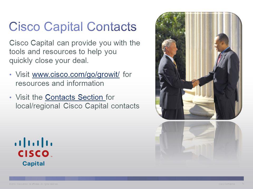 Cisco Capital Contacts