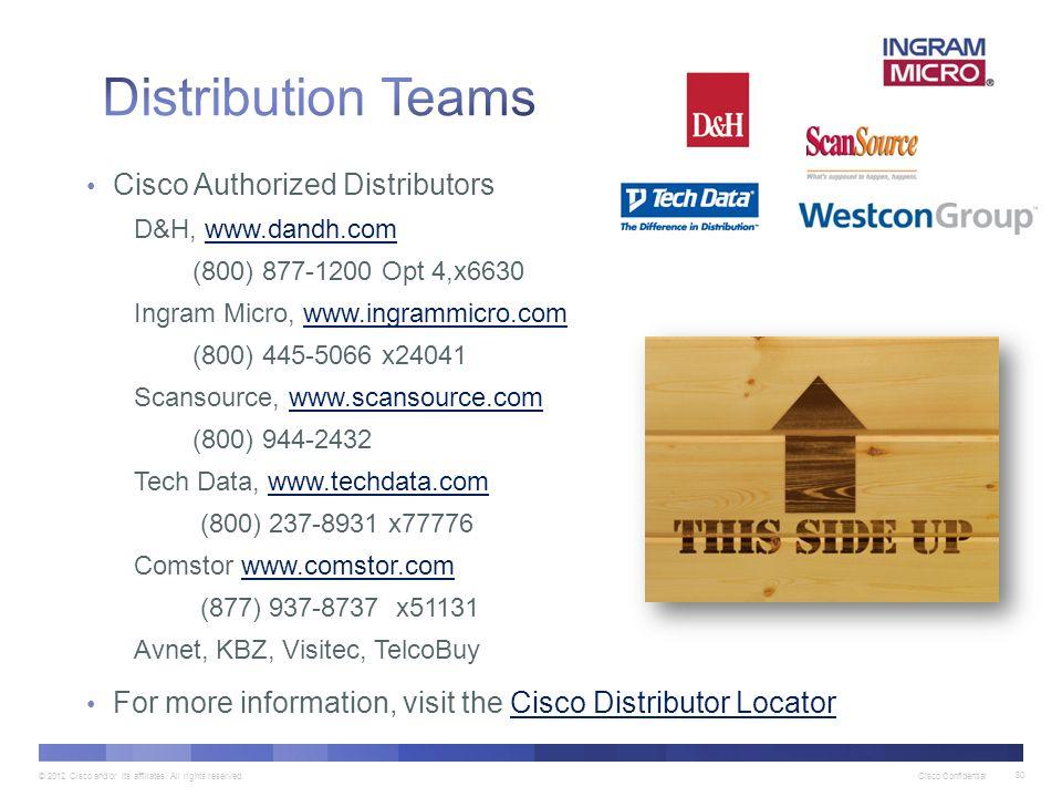 Distribution Teams Cisco Authorized Distributors