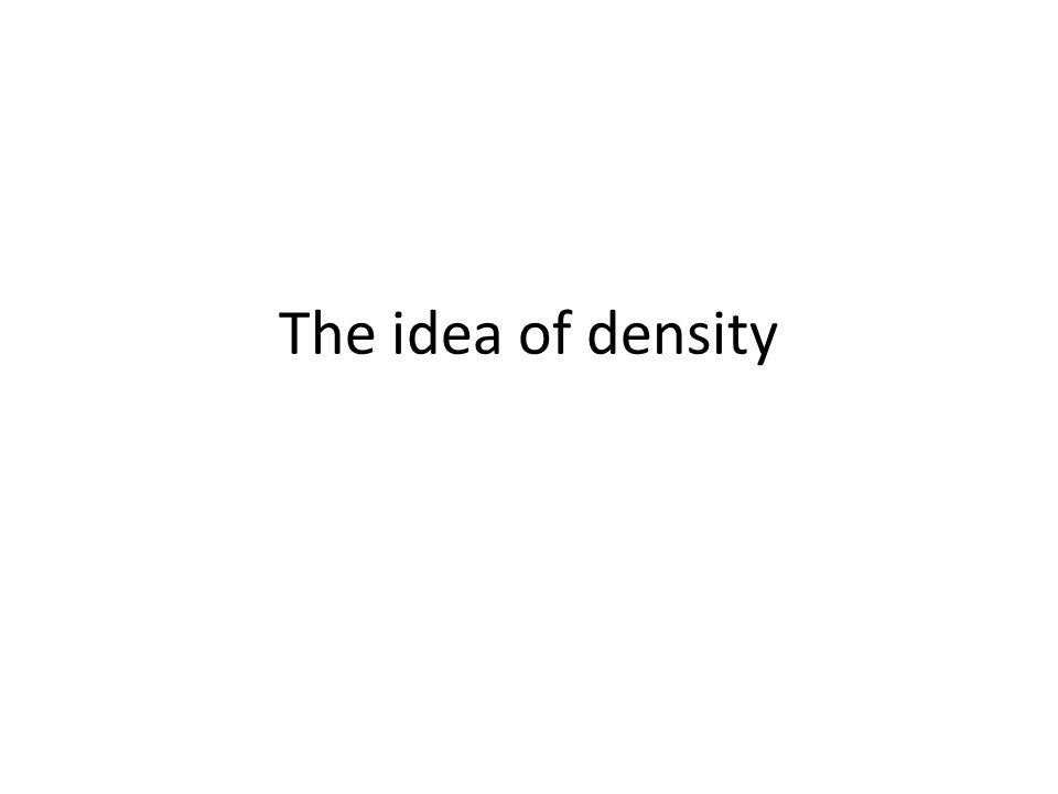 The idea of density