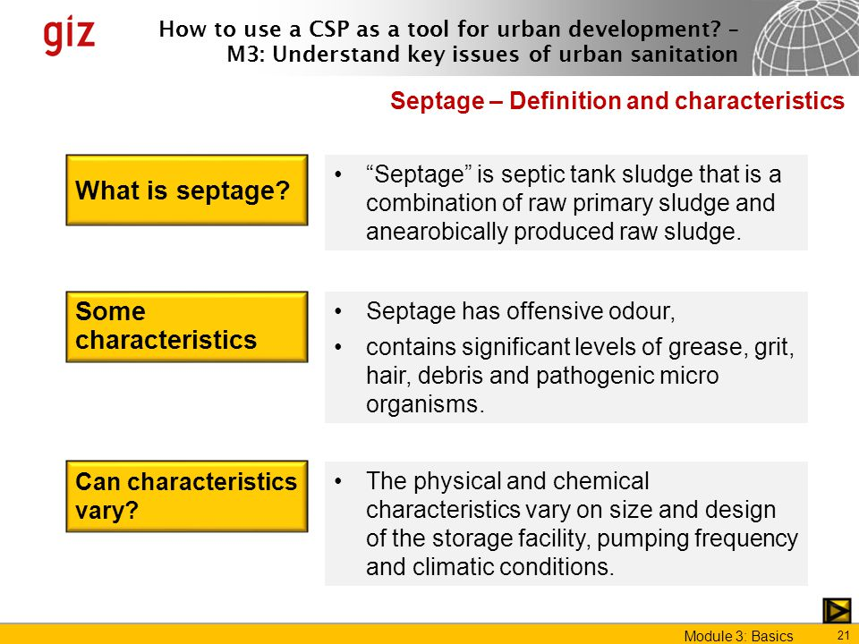 What is septage Some characteristics