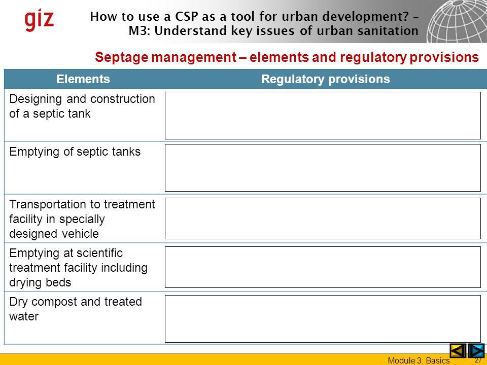 Regulatory provisions