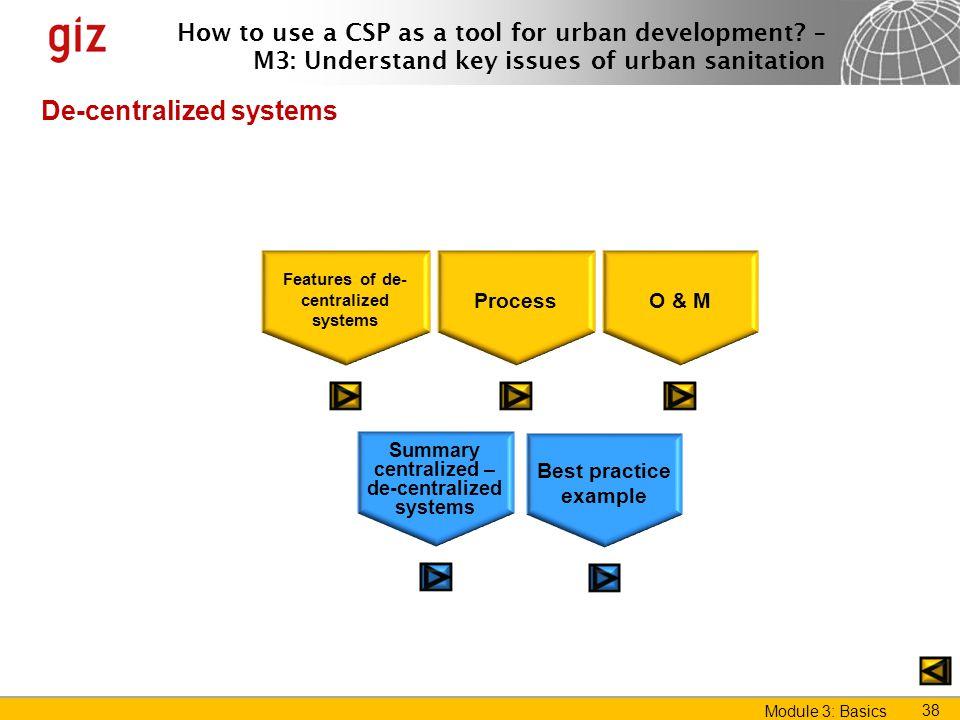 De-centralized systems