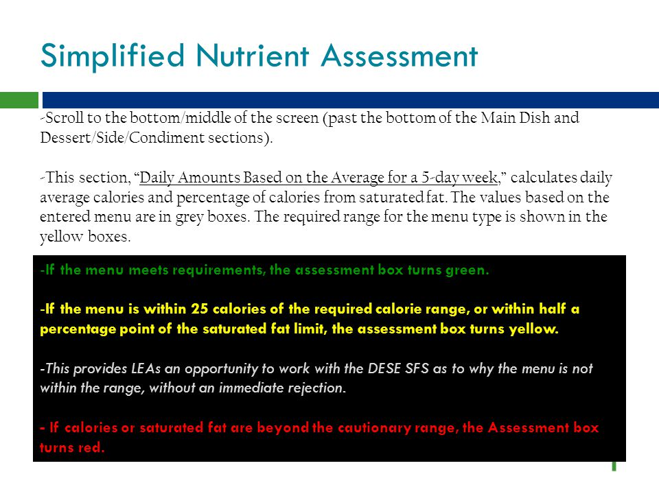 Simplified Nutrient Assessment