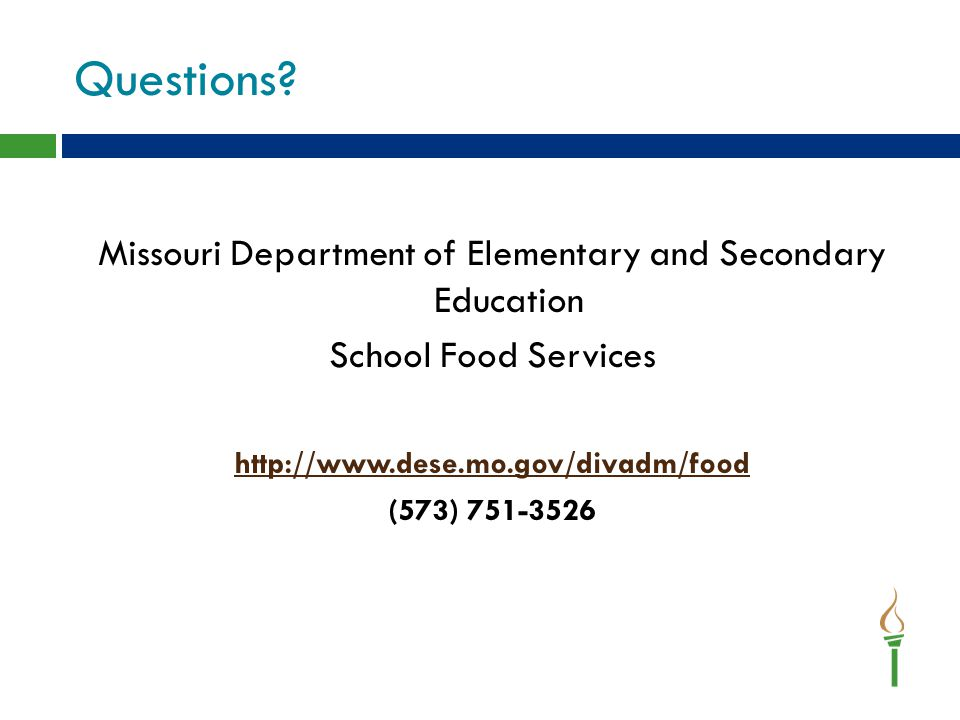 Missouri Department of Elementary and Secondary Education