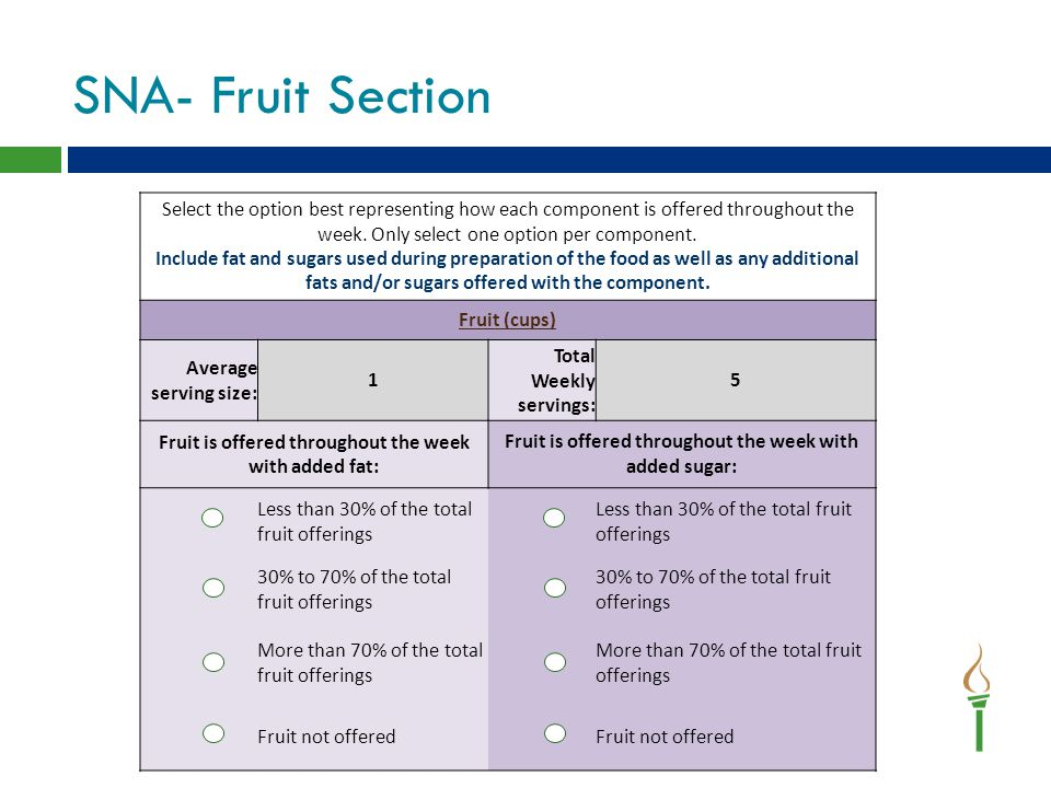 SNA- Fruit Section