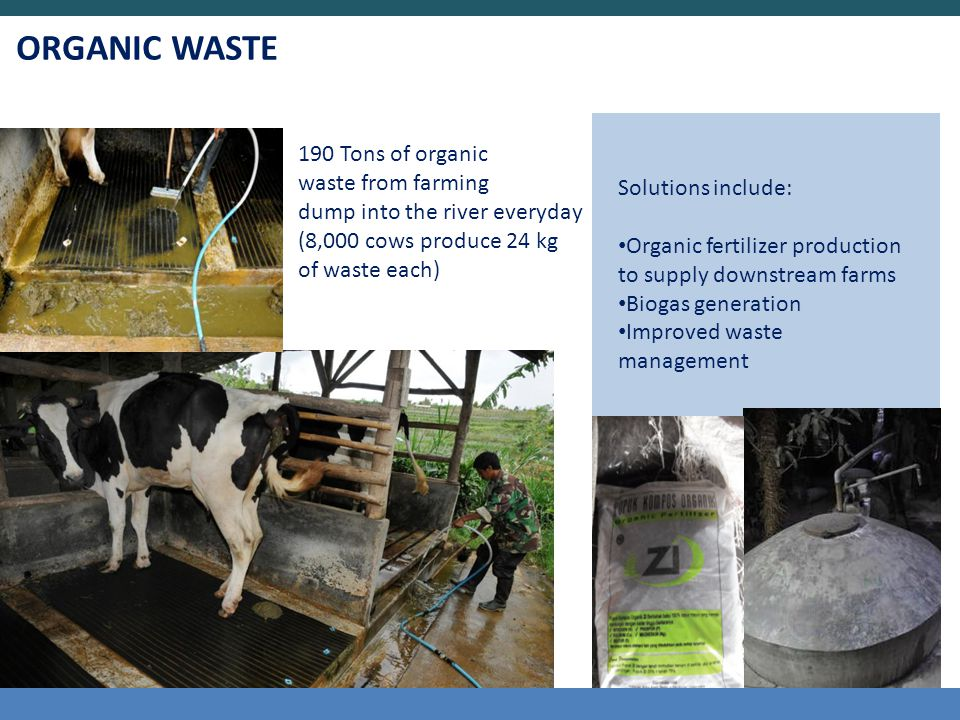 ORGANIC WASTE 190 Tons of organic waste from farming
