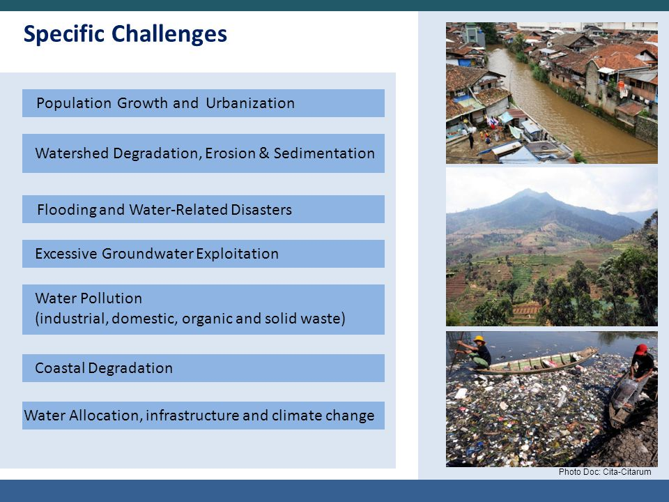 Specific Challenges Population Growth and Urbanization