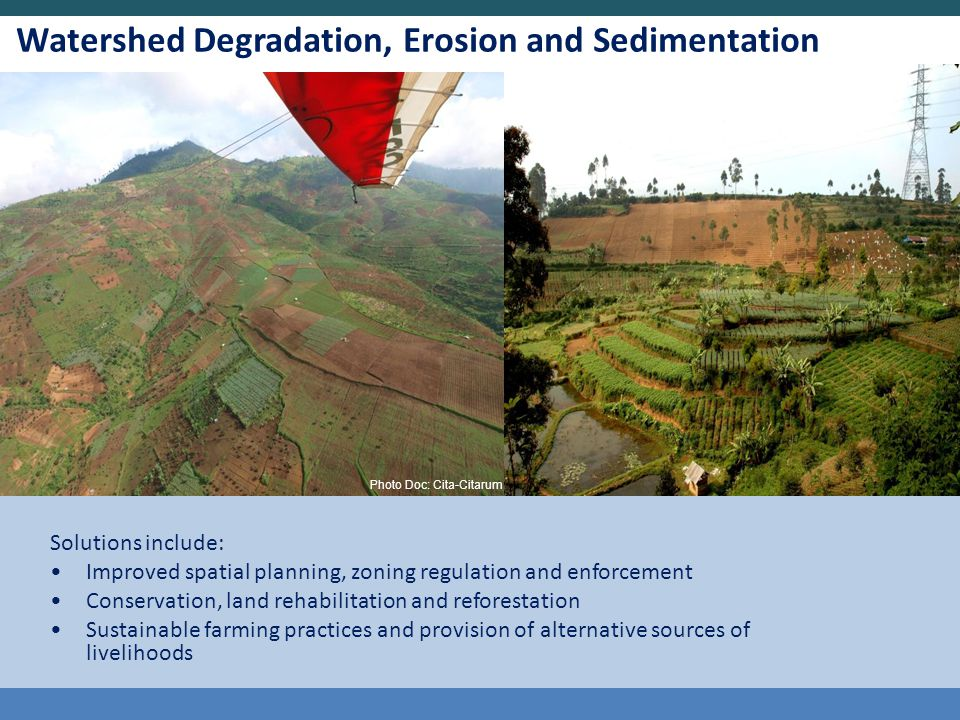 Watershed Degradation, Erosion and Sedimentation