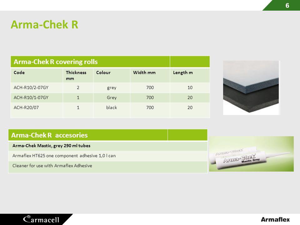 Arma-Chek R Arma-Chek R covering rolls Arma-Chek R accesories Code