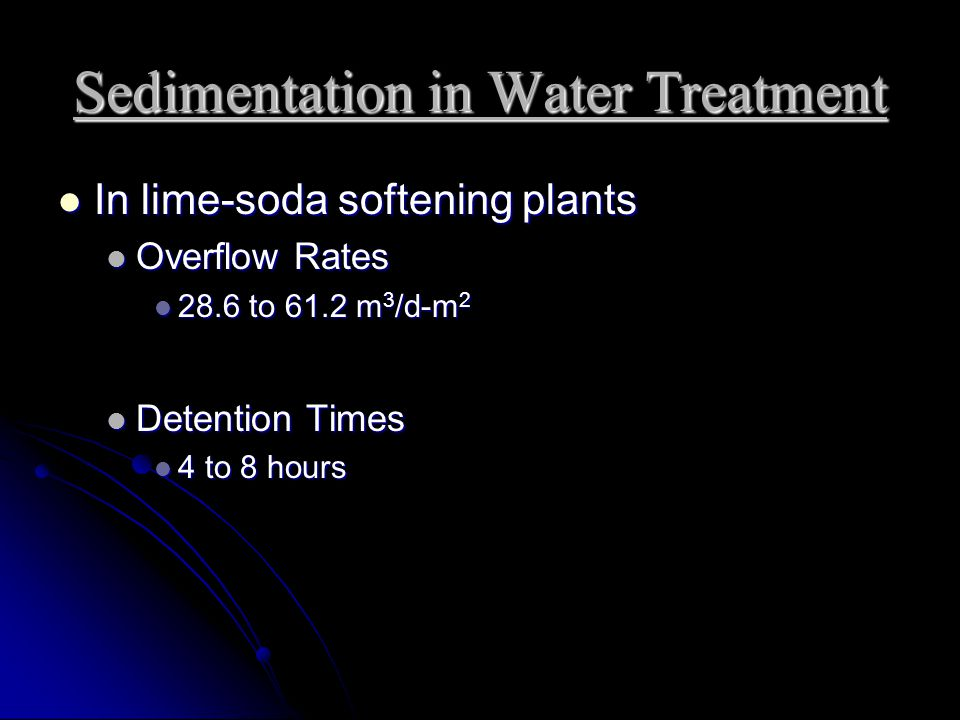 Sedimentation in Water Treatment