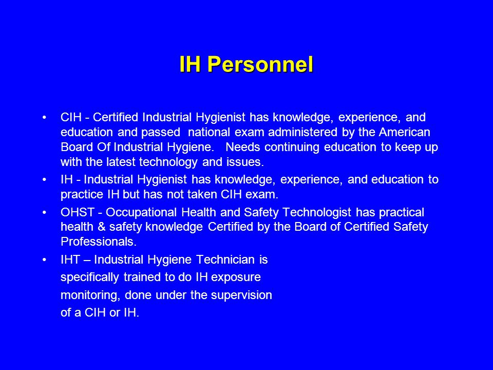 IH Personnel