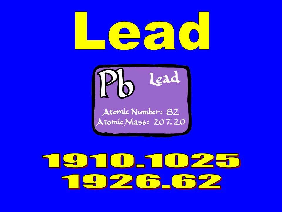 Lead 1910.1025 1926.62