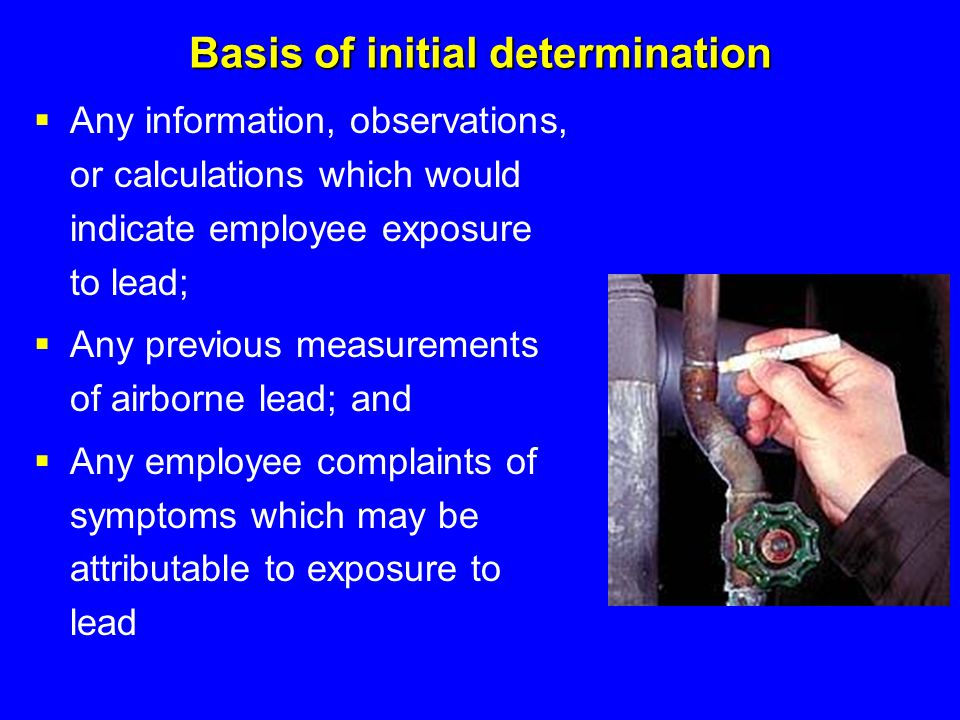 Basis of initial determination