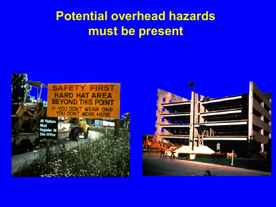 Potential overhead hazards
