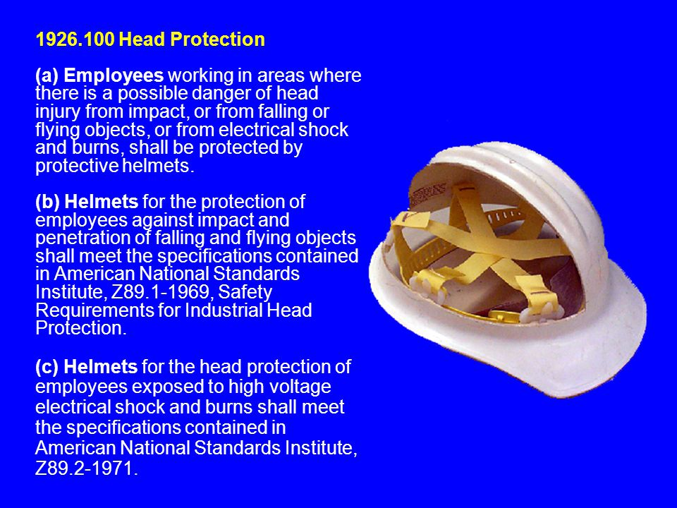 1926.100 Head Protection