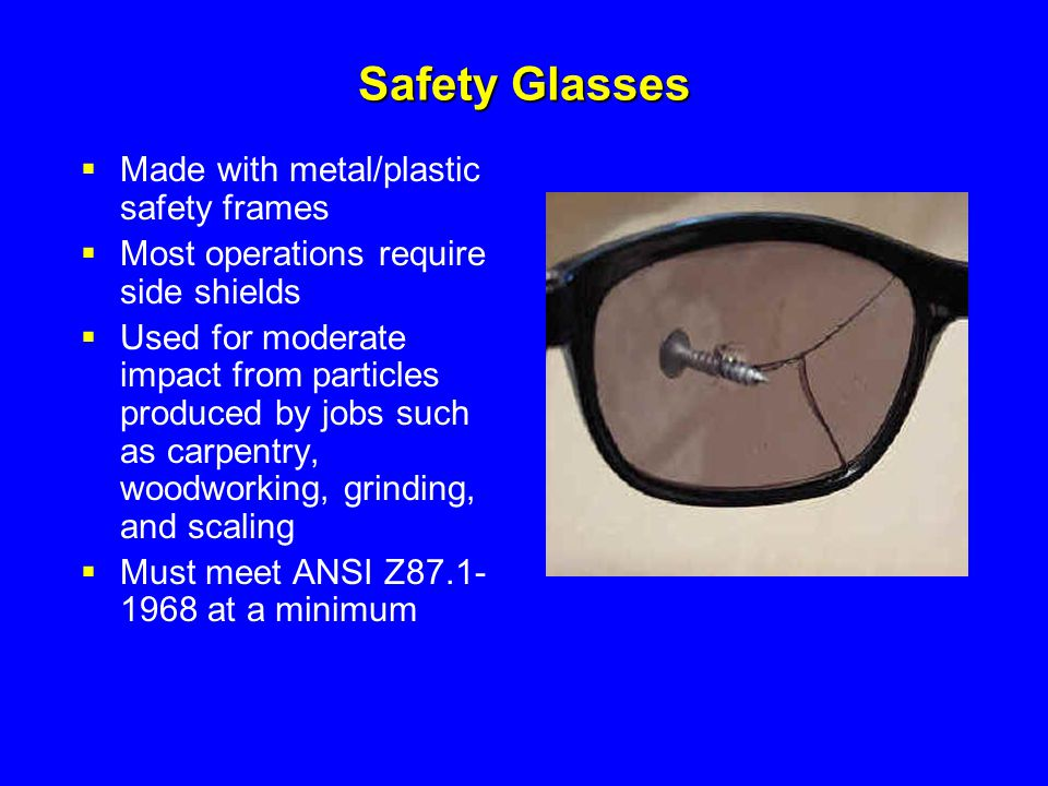 Safety Glasses Made with metal/plastic safety frames
