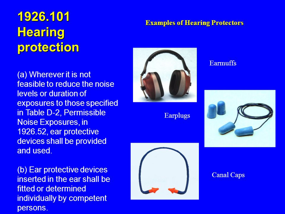 1926.101 Hearing protection