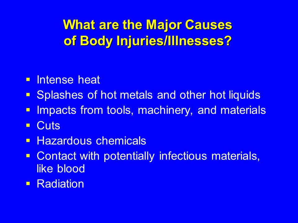 What are the Major Causes of Body Injuries/Illnesses